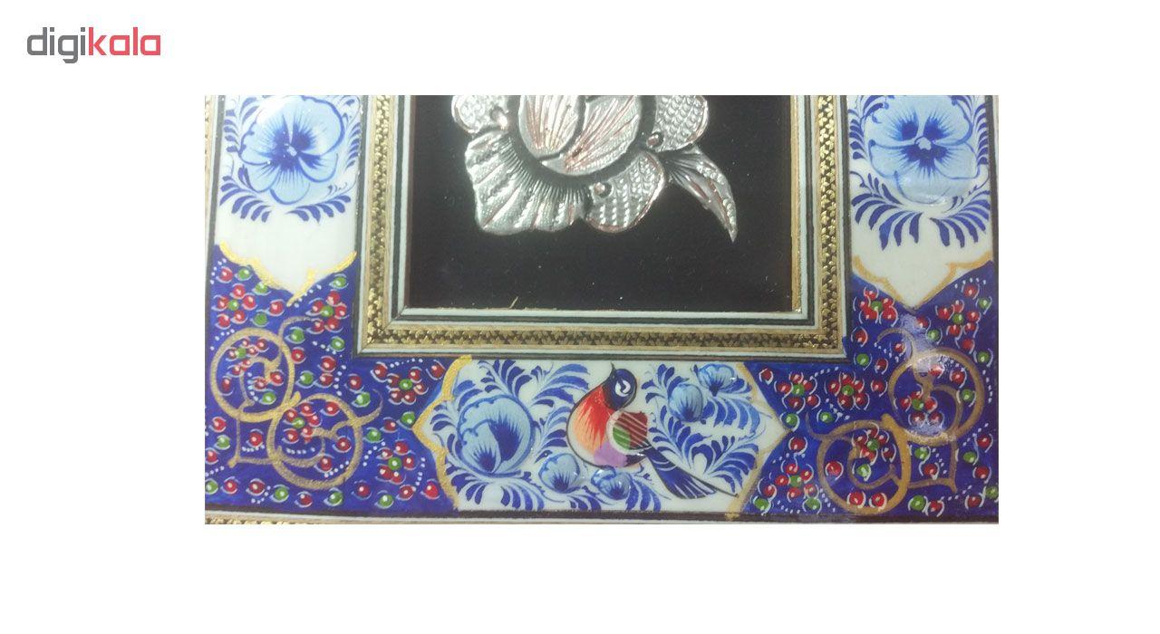 خرید                      تابلو قلم زنی طرح گل و مرغ کد 102511