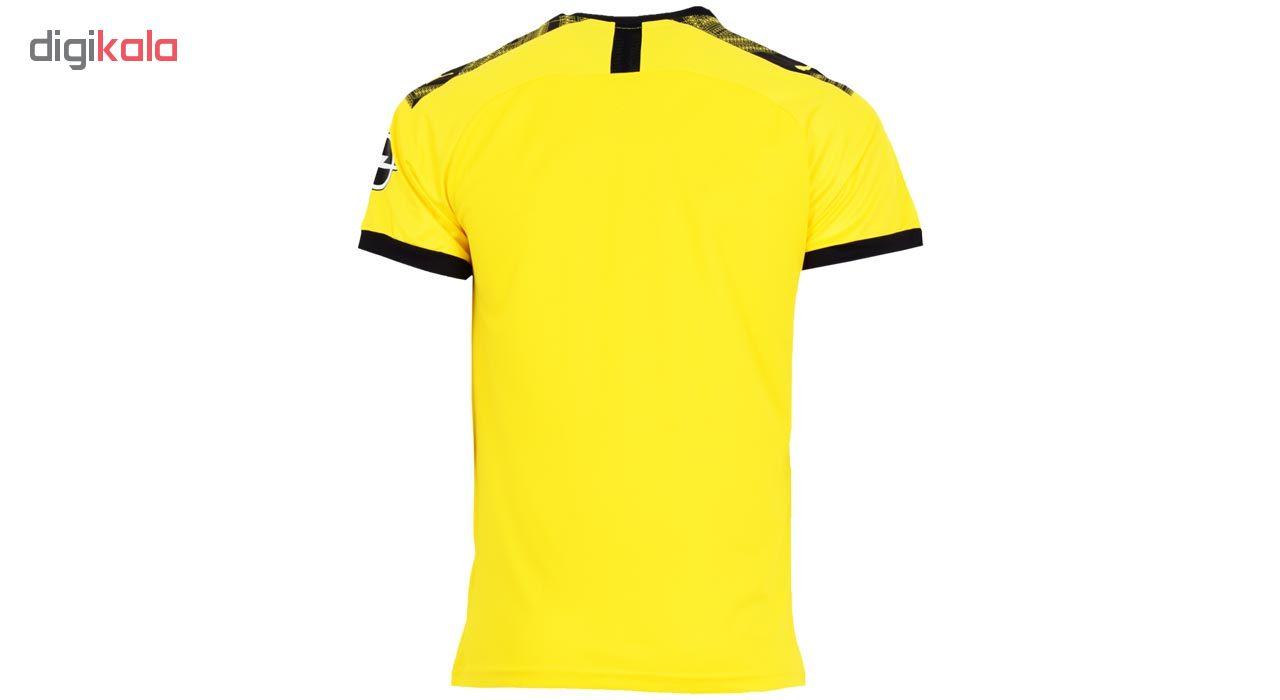 تی شرت ورزشی مردانه طرح دورتموند مدل 20-2019 home رنگ زرد
