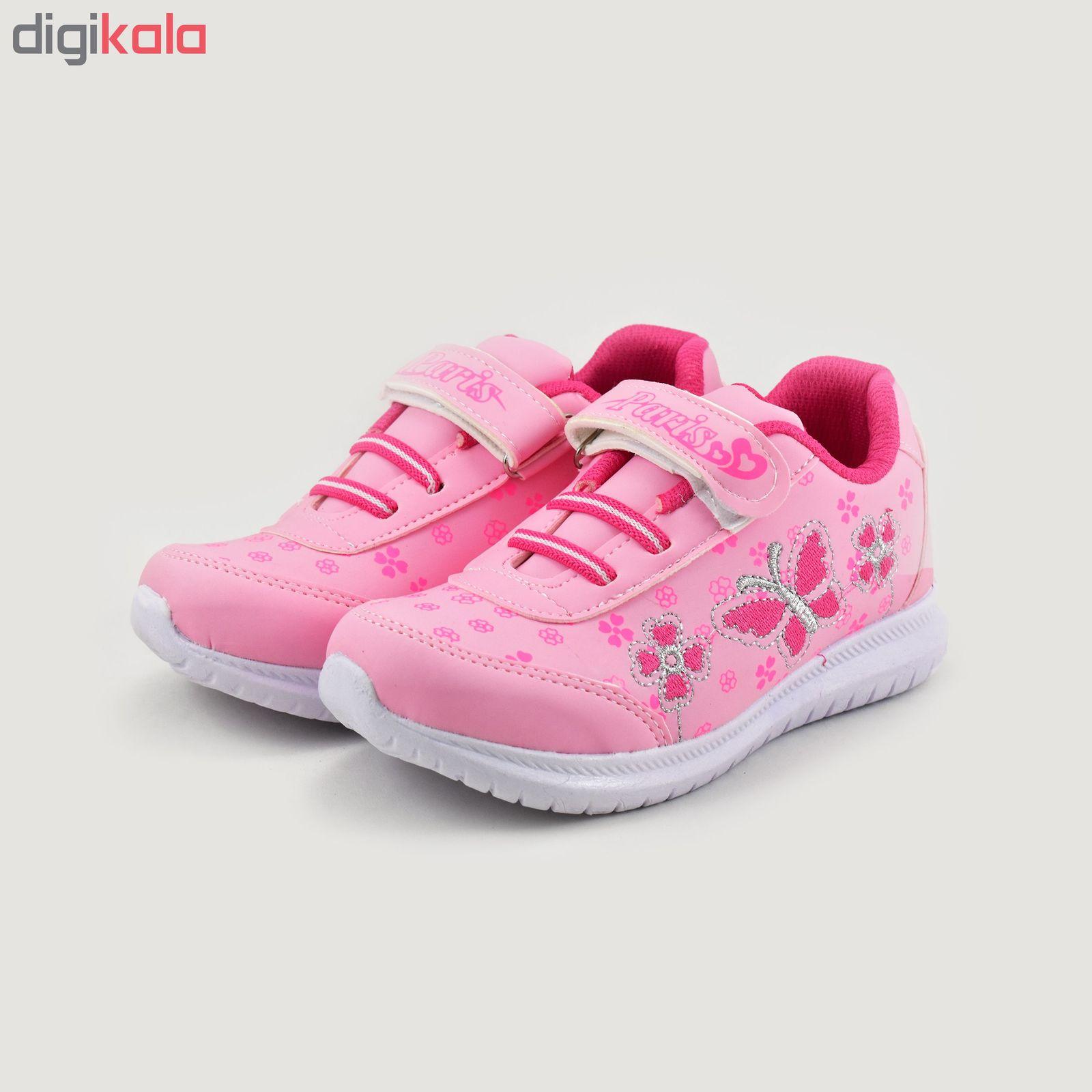 کفش ورزشی دخترانه طرح پروانه کد 4444 main 1 2