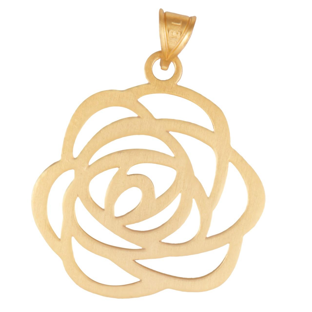 آویز گردنبند طلا عیار نه طرح گل کد SG234