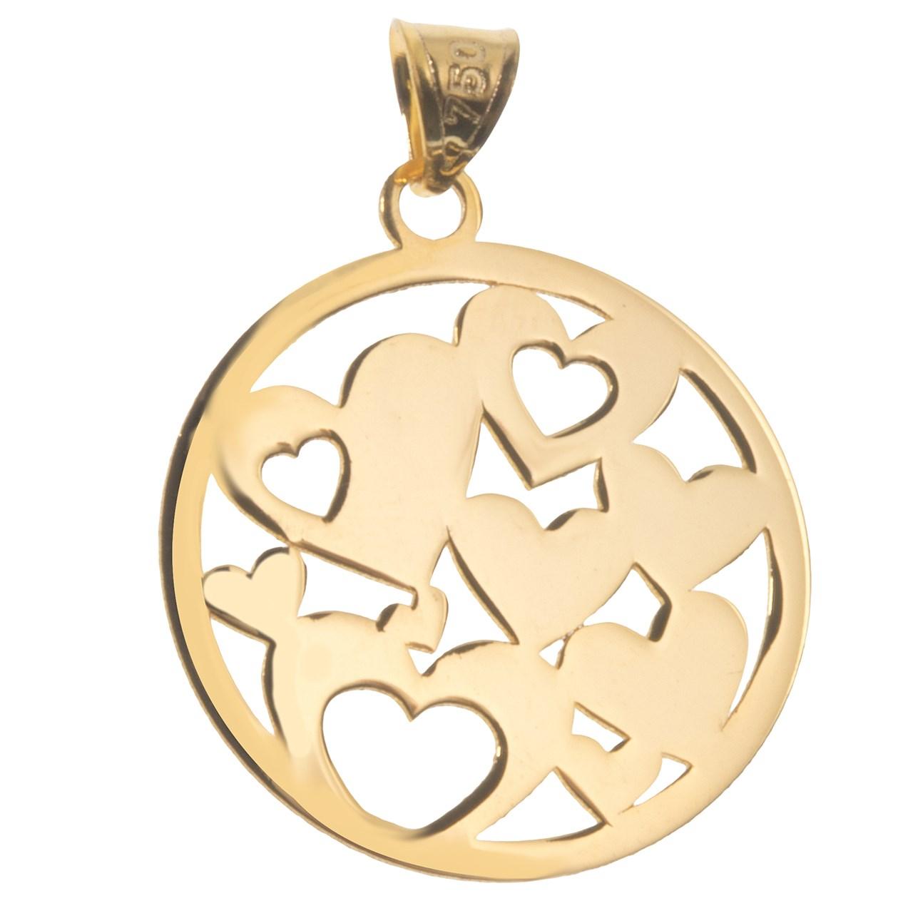 آویز گردنبند طلا 18 عیار نه طرح قلب کد SG237