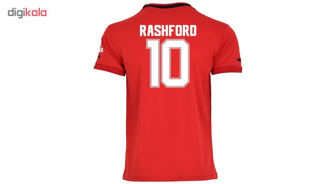 ست پیراهن و شورت ورزشی مردانه طرح راشفورد و منچستریونایتد کد 20-2019 home رنگ قرمز