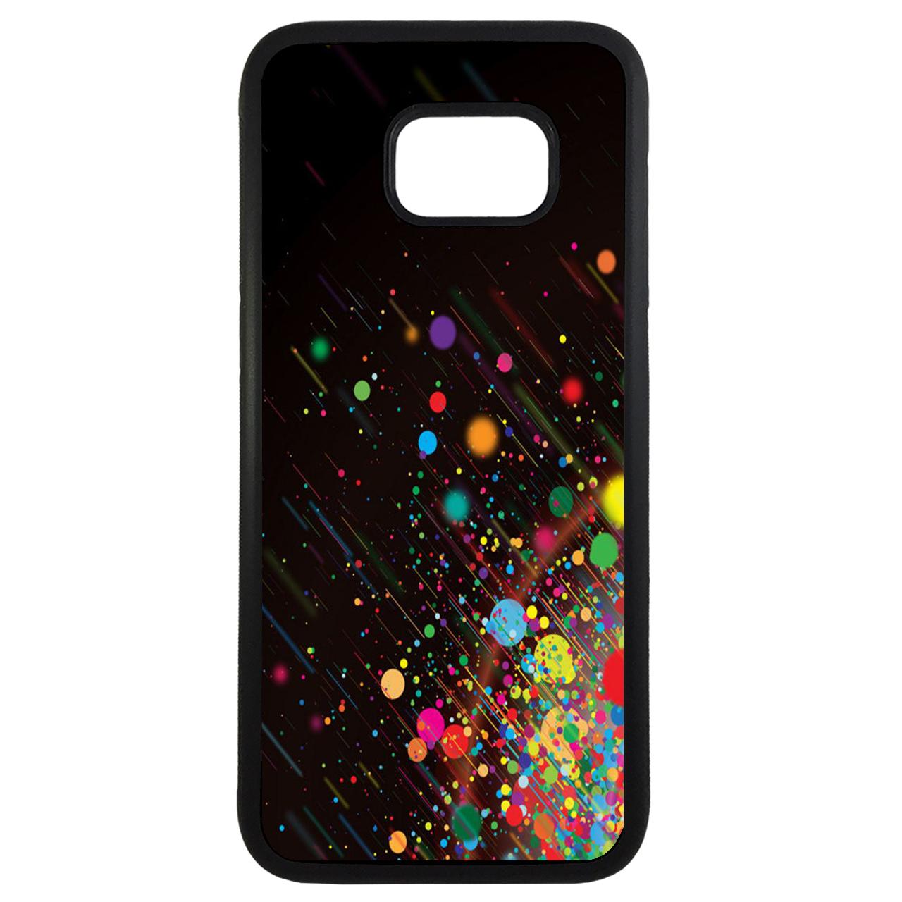 کاور طرح رنگارنگ کد 11054094224 مناسب برای گوشی موبایل سامسونگ galaxy s7 edge