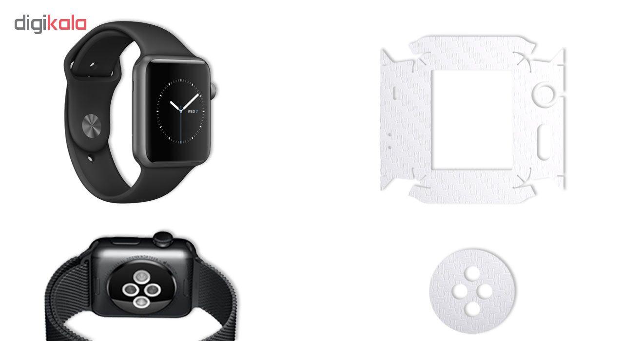 برچسب ماهوت طرح Carbon-fiber مناسب برای ساعت هوشمند اپل Watch 2 - 42mm بسته 2 عددی