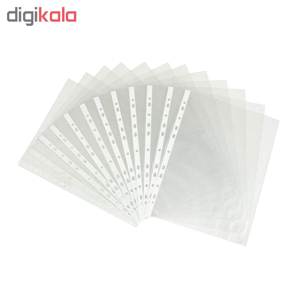 کاور کاغذ کد 6 بسته 100 عددی به همراه گیره پوشه واشین کد 4 بسته 50 عددی