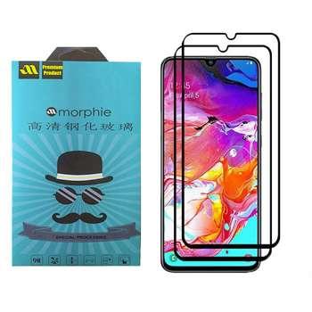 محافظ صفحه نمایش 6D مورفی مدل MR7B مناسب برای گوشی موبایل سامسونگ Galaxy A70 بسته دو عددی