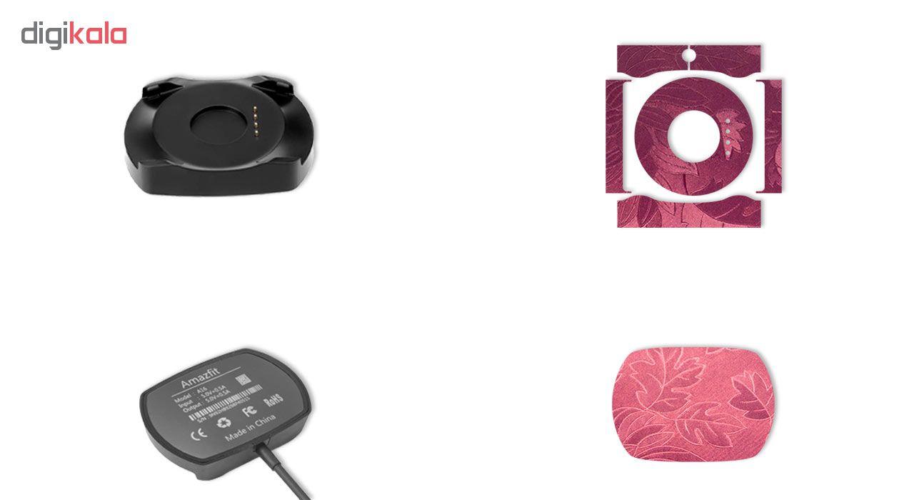 برچسب ماهوت مدل Wild-Flowers مناسب برای ساعت هوشمند شیائومی Amazfit Stratos بسته 2 عددی