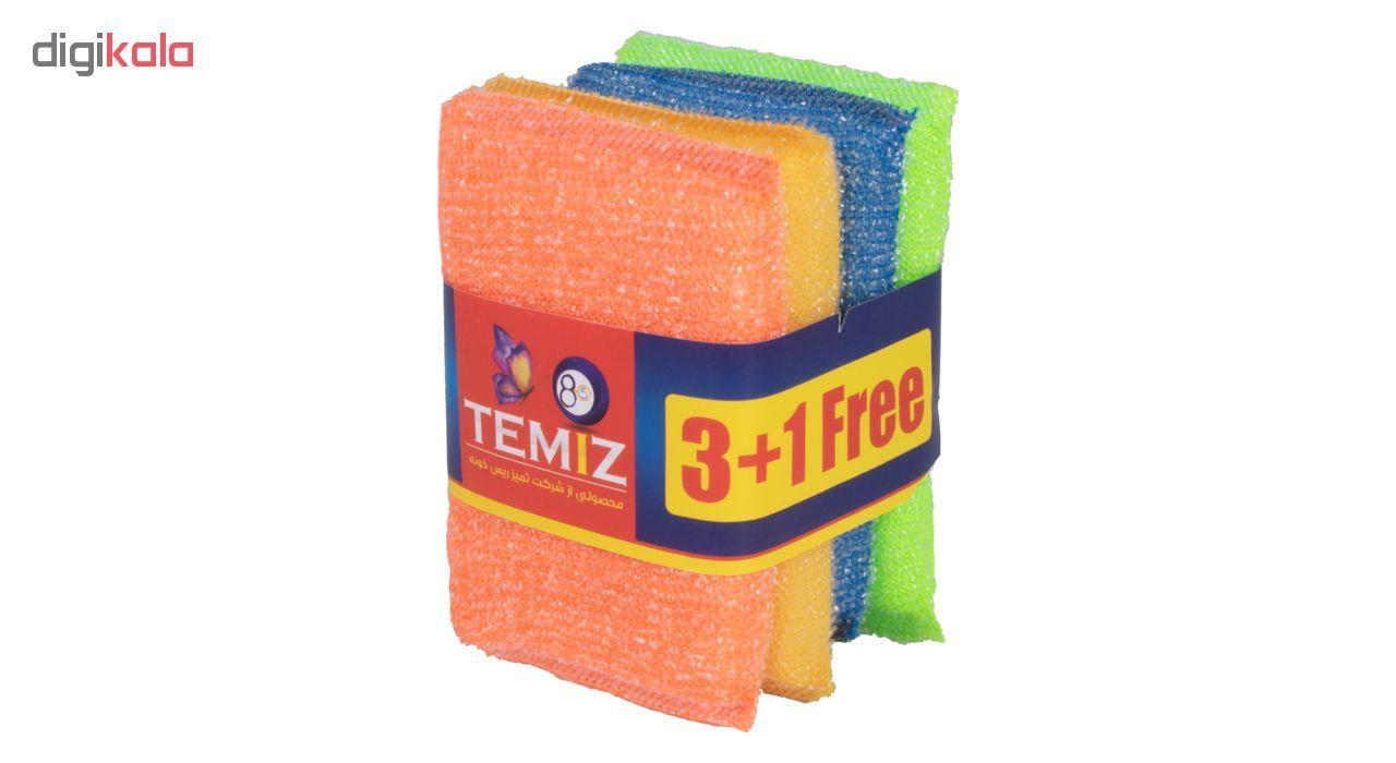 اسکاچ تمیز8.5 کد 25 بسته 4 عددی main 1 4