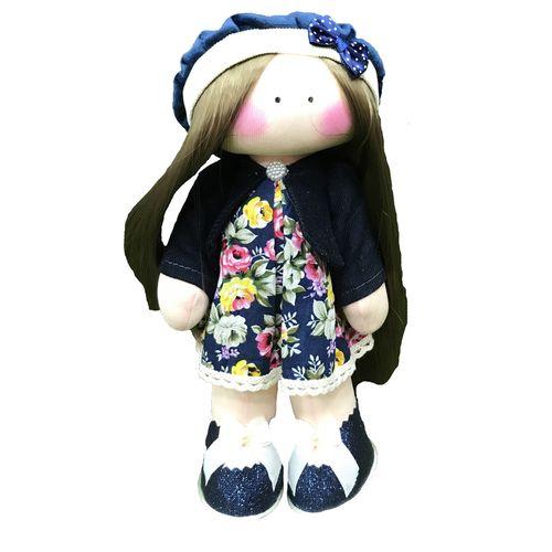 عروسک طرح دختر روسی کد 02 ارتفاع 25 سانتی متر