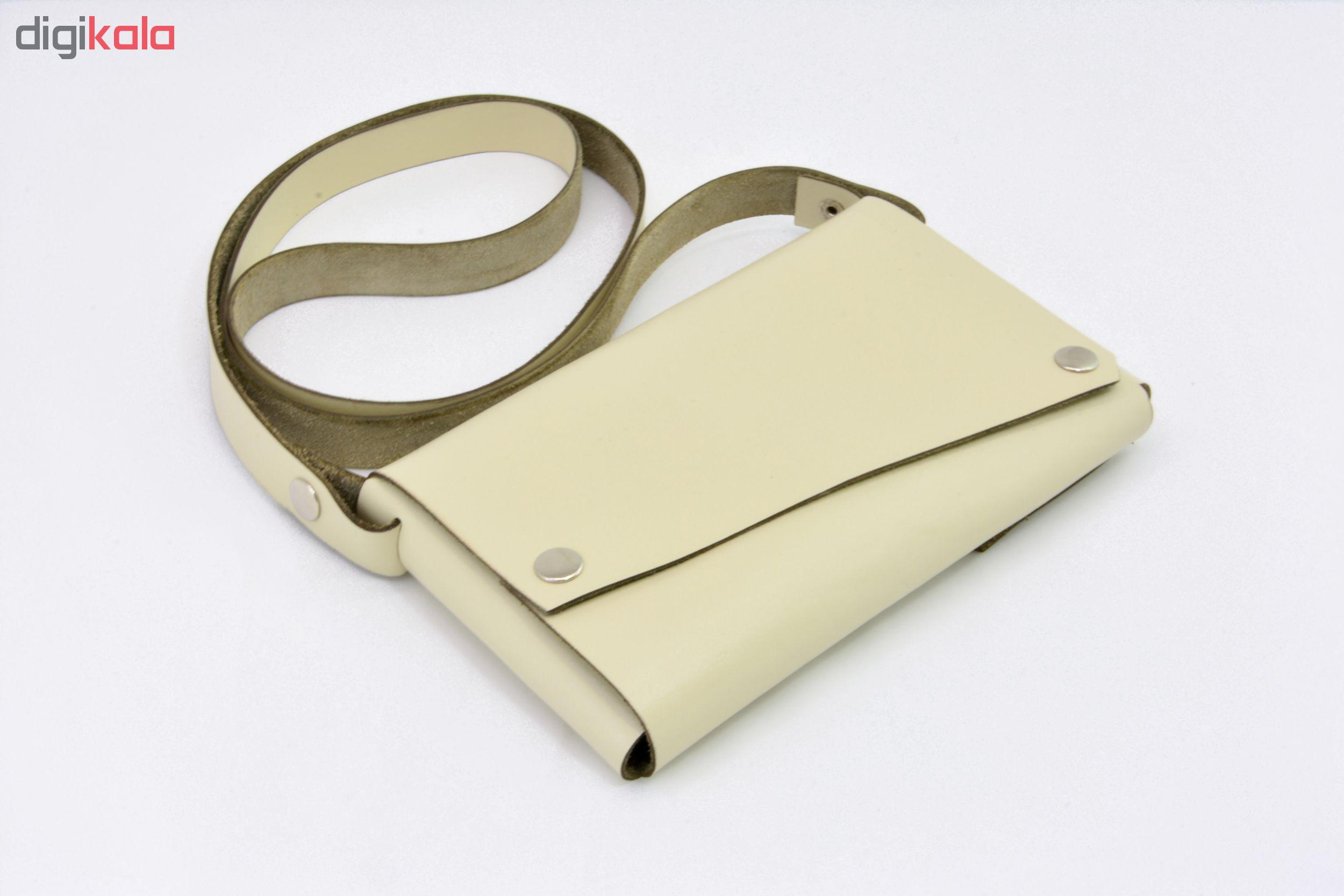 کیف دوشی زنانه نیم دایره مدل اوریگامی کد L-101