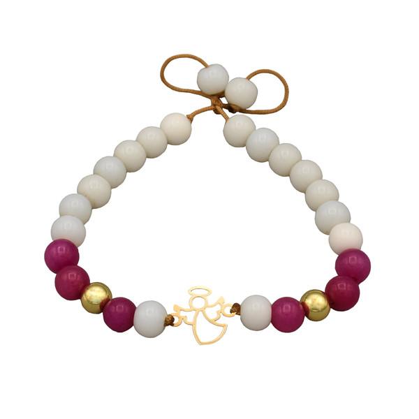 دستبند طلا 18 عیار زنانه طرح فرشته کد 149M86