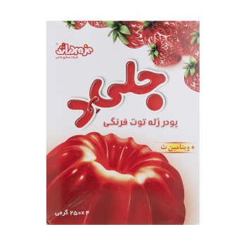 پودر ژله توت فرنگی جلید وزن 1 کیلوگرم