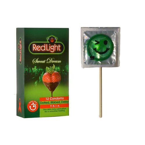 کاندوم ردلایت مدل Sweet Dream بسته 12 عددی به همراه کاندوم طرح ایموجی