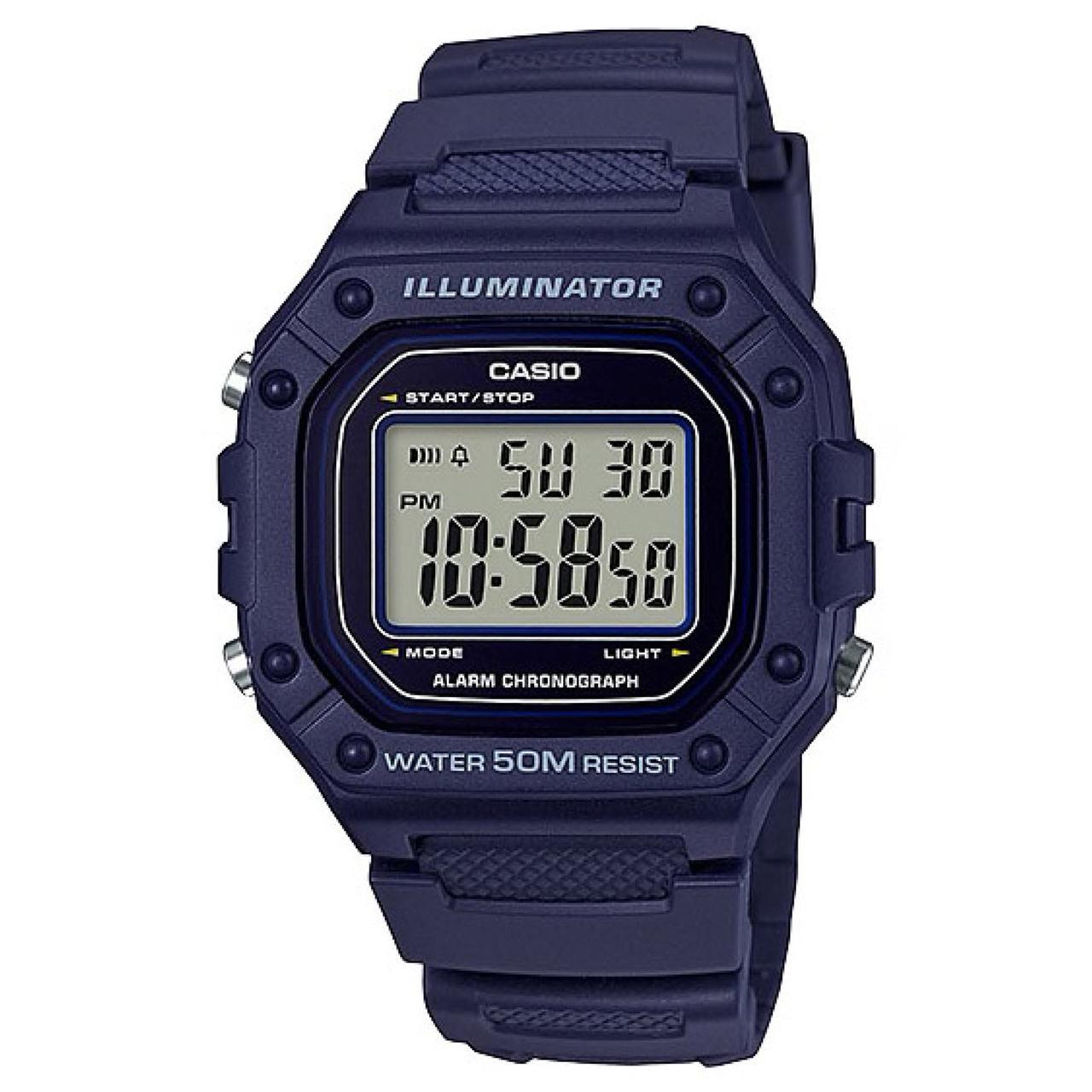 ساعت مچی دیجیتال کاسیو کد W-218H-2AVDF
