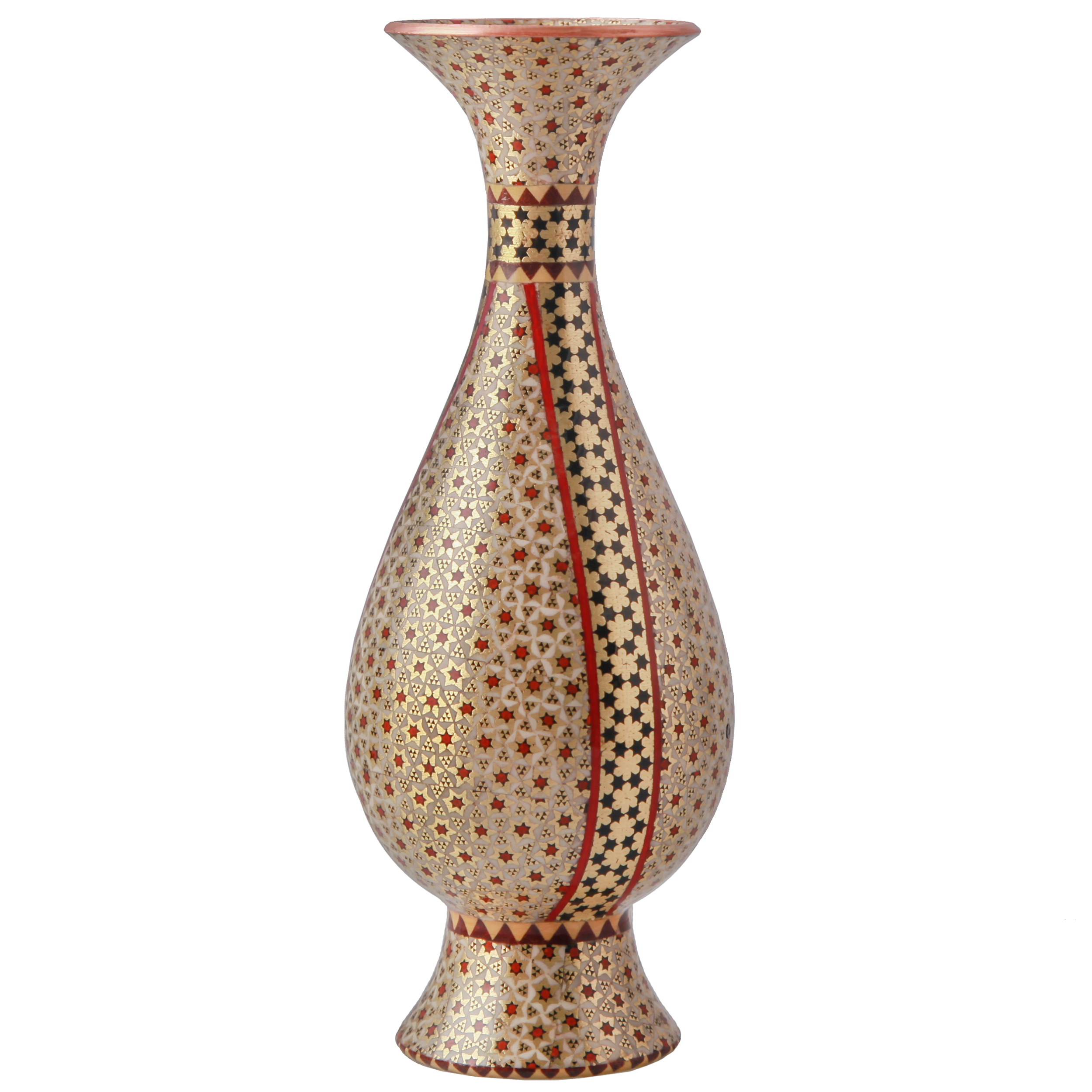 خرید                      گلدان خاتم کاری خاتم کوروش - کروبی کد 141318