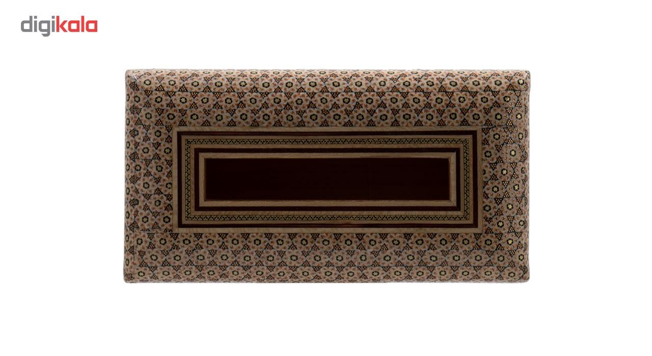 خرید                      جعبه دستمال کاغذی خاتم کاری رستا طرح 5-12-101