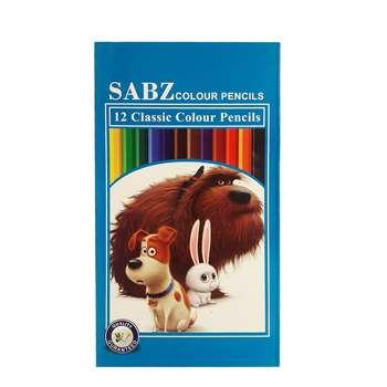 مداد رنگی 12 رنگ سبز کد 110701