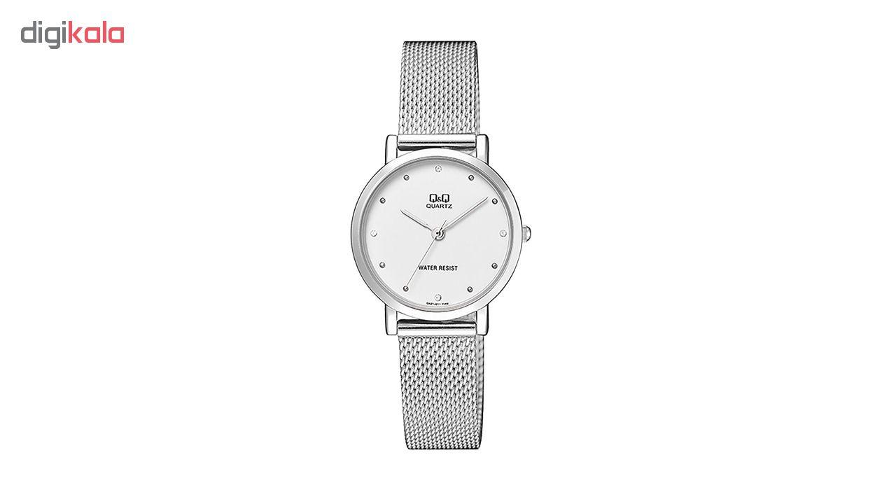 ساعت مچی عقربه ای زنانه کیو اند کیو کد qa21j211y              ارزان