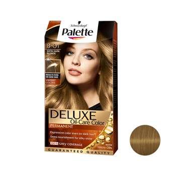 کیت رنگ مو پلت سری DELUXE شماره 01-8 حجم 50 میلی لیتر رنگ بلوند تیره