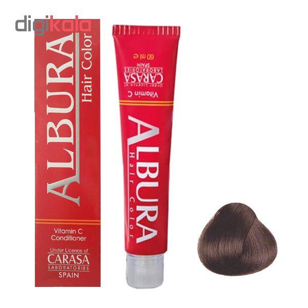 رنگ مو آلبورا مدل carasa شماره NF5-6.00 حجم 100 میلی لیتر رنگ بلوند تیره