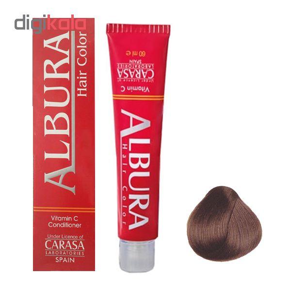 رنگ مو آلبورا مدل carasa شماره NF6-7.00 حجم 100 میلی لیتر رنگ بلوند متوسط