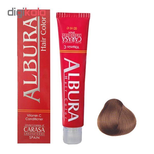 رنگ مو آلبورا مدل carasa شماره NF7-8.00.00 حجم 100 میلی لیتر رنگ بلوند روشن