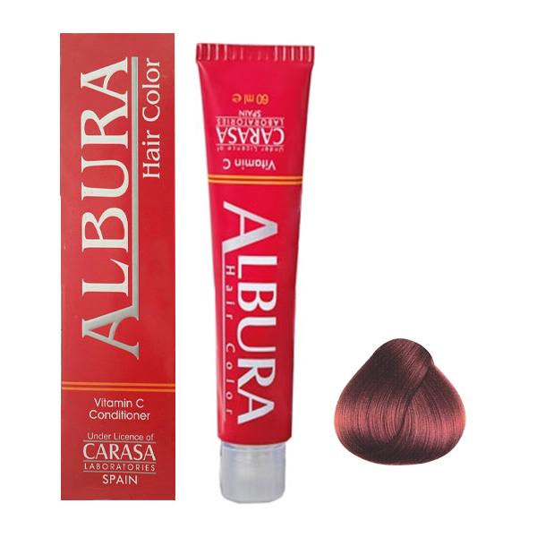 رنگ مو آلبورا مدل carasa شماره 4.4 حجم 100 میلی لیتر رنگ بلوطی متوسط