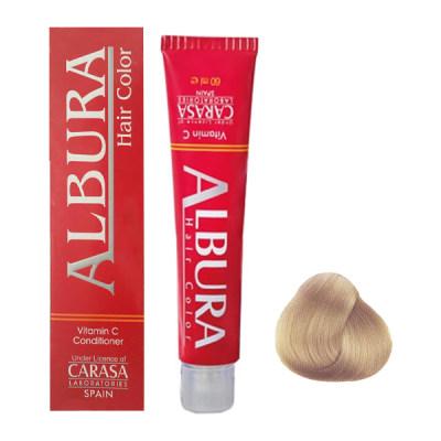 تصویر رنگ مو آلبورا مدل carasa شماره 6.32 حجم 100 میلی لیتر رنگ شنی