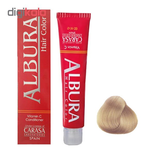 رنگ مو آلبورا مدل carasa شماره 6.32 حجم 100 میلی لیتر رنگ شنی