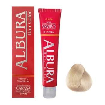 رنگ مو آلبورا مدل carasa شماره 8.32 حجم 100 میلی لیتر رنگ بلوند شنی روشن