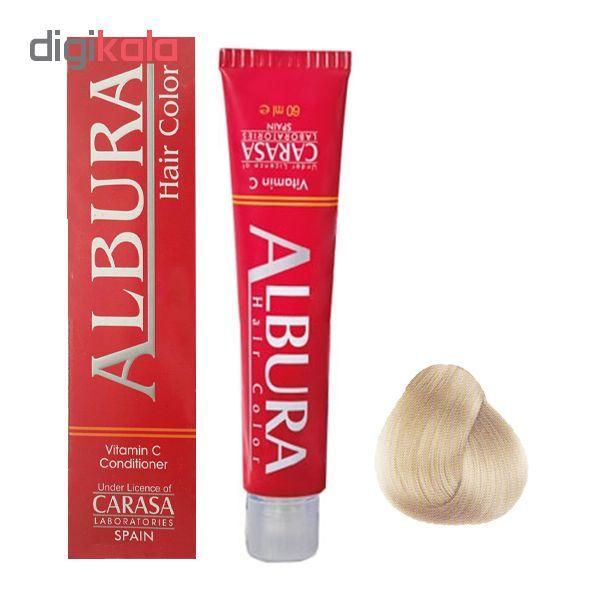 رنگ مو آلبورا مدل carasa شماره 8.32 حجم 100 میلی لیتر رنگ بلوند شنی روشن main 1 1
