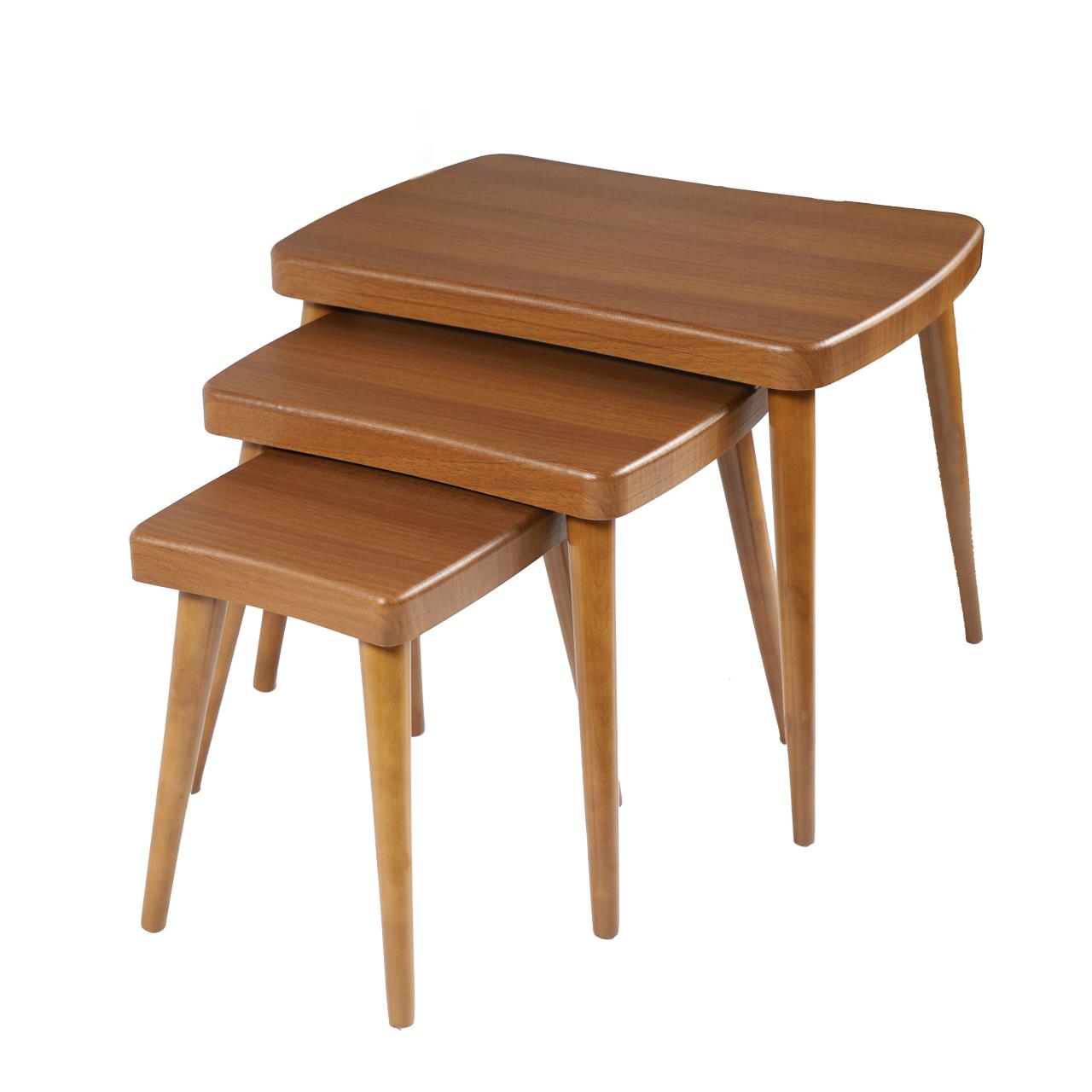 میز عسلی مدل 130AGH مجموعه 3 عددی