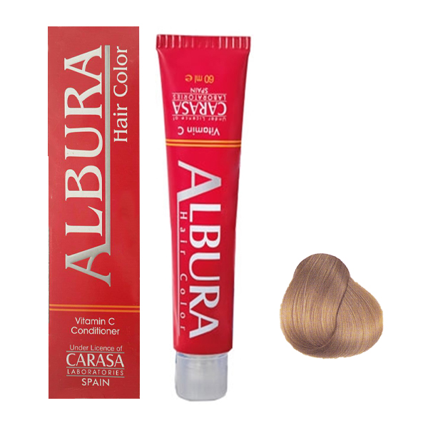 رنگ مو آلبورا مدل carasa شماره NF9-10.00 حجم 100 میلی لیتر رنگ بلوند پلاتینه