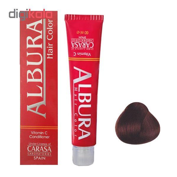 رنگ مو آلبورا مدل carasa شماره 3.43 حجم 100 میلی لیتر رنگ فندقی تیره