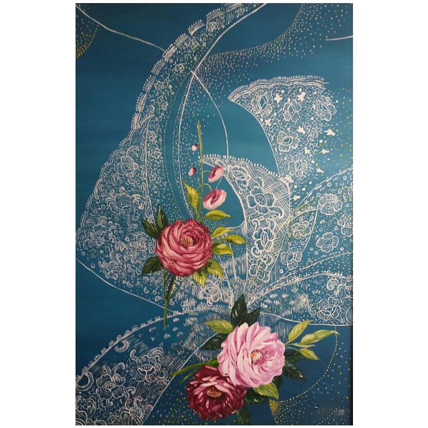 تابلو نقاشی رنگ روغن طرح رویای عروس مدل p07