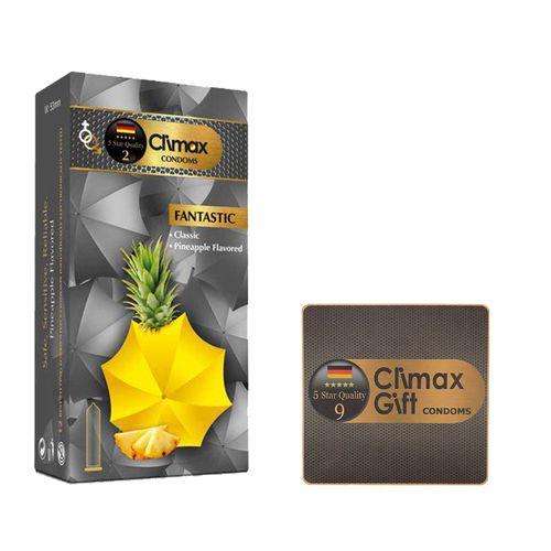 کاندوم کلایمکس مدل Fantastic بسته 12عددی به همراه کاندوم مدل Gift