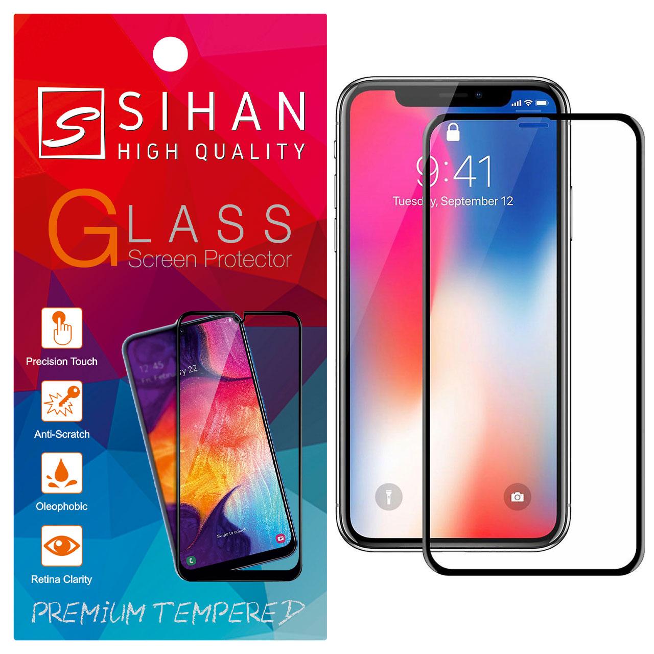 محافظ صفحه نمایش سیحان مدل FG مناسب برای گوشی موبایل اپل iphone X