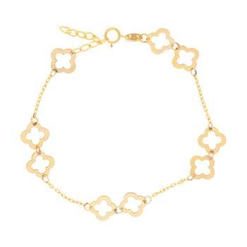 دستبند طلا 18 عیار زنانه کد 3130