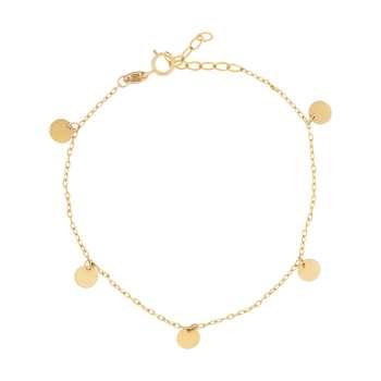 دستبند طلا 18 عیار زنانه کد 9017