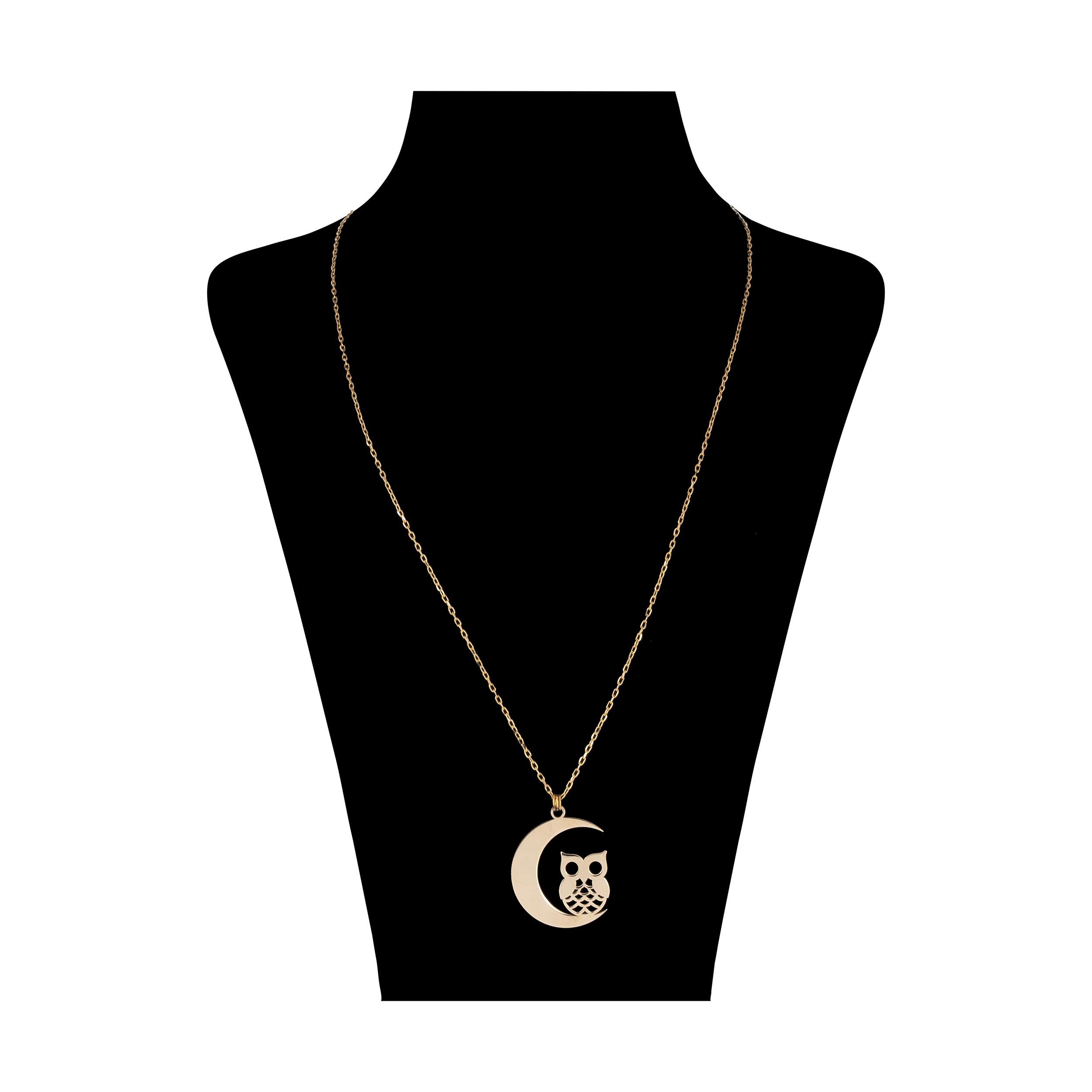 گردنبند طلا 18 عیار زنانه کد 9028