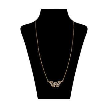 گردنبند طلا 18 عیار زنانه کد 9014