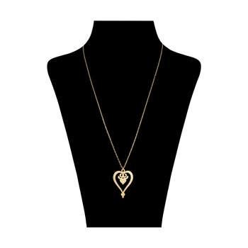 گردنبند طلا 18 عیار زنانه کد 9010