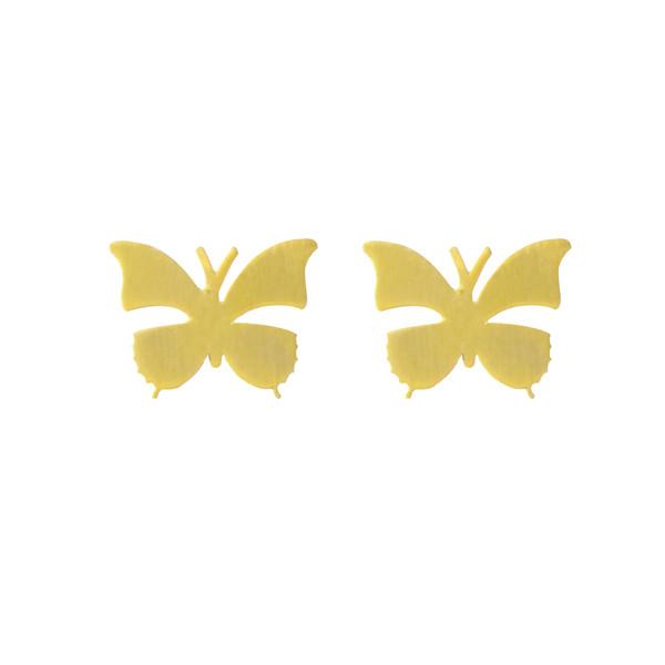 گوشواره طلا 18 عیار زنانه الن نار طرح پروانه کد 710