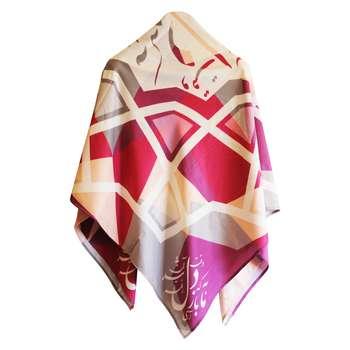 روسری زنانه دایان طرح سیاه مشق کد 014