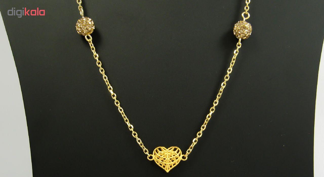 گردنبند طلا 18 عیار زنانه مانچو کد sfgs002
