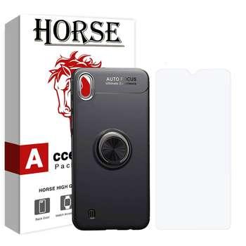 کاور هورس مدل CRH مناسب برای گوشی موبایل سامسونگ Galaxy A10 به همراه محافظ صفحه نمایش