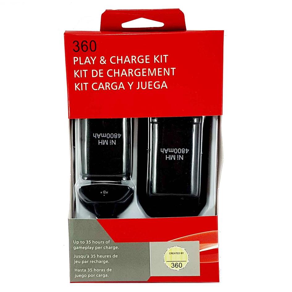باتری و شارژر دسته بازی ایکس باکس ۳۶۰ کد ۴۸۰۰