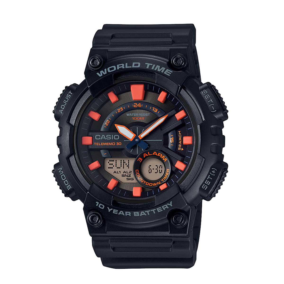 ساعت مچی عقربه ای مردانه کاسیو کد AEQ-110W-1A2VDF