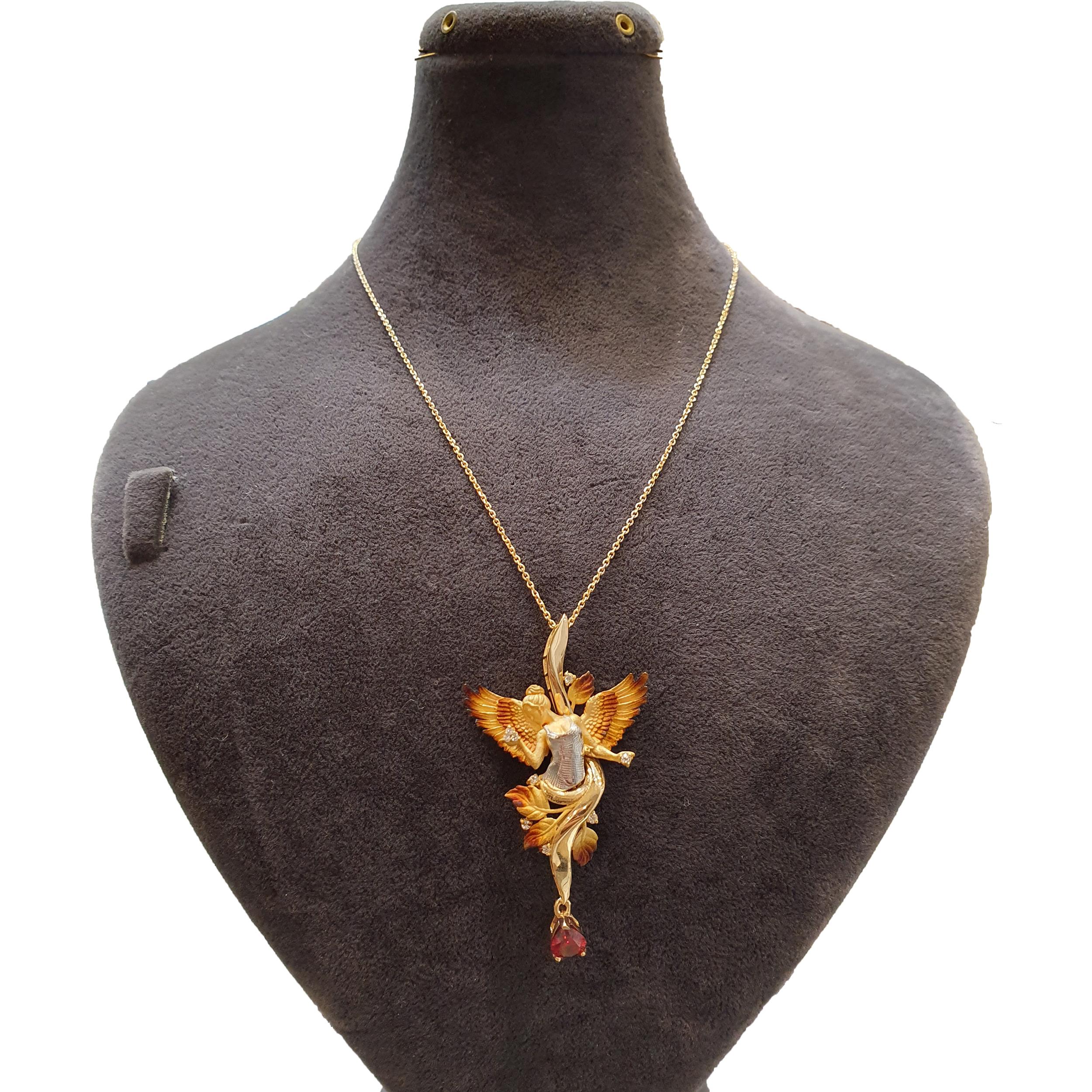 قیمت گردنبند طلا 18 عیار زنانه آزوریت کد A136