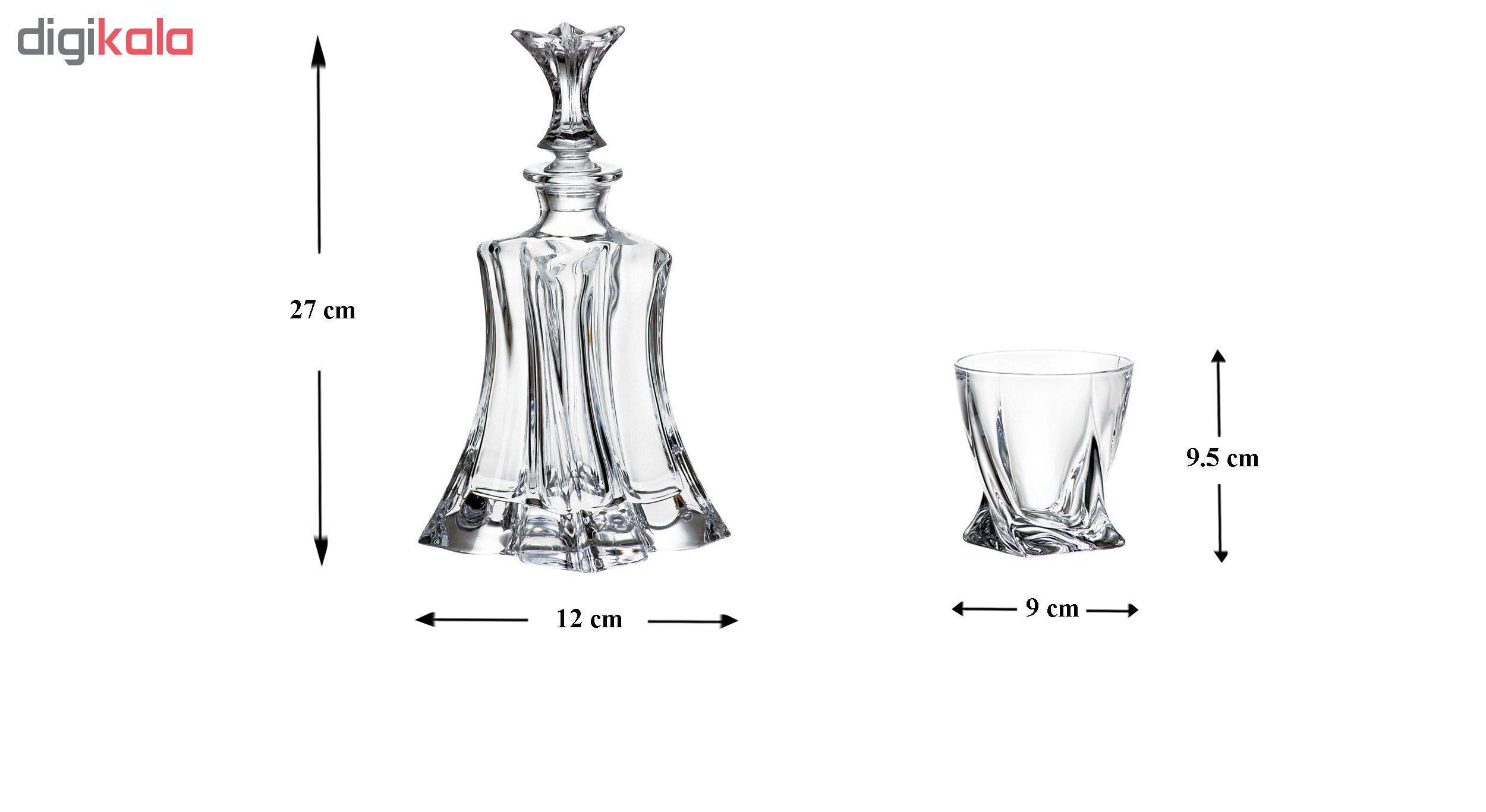ست تنگ و لیوان 7 پارچه بوهمیا مدل Florale کد 4293